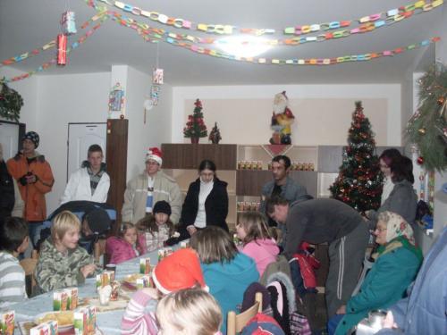 Rozsvícení vánočního stromečku+ČERT A MIKULÁŠ 2010